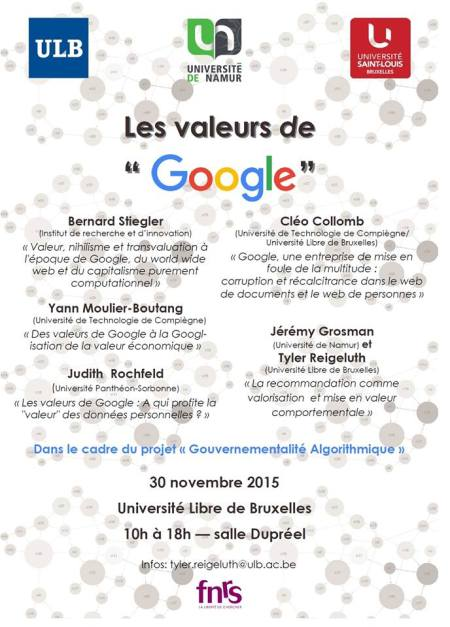 Affiche Les valeurs de Google